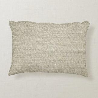 Cotton Linen Background Decorative Pillow