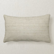 Cotton Linen Background Lumbar Pillow