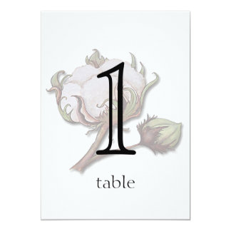 Cotton on Stripe 2nd Anniversary Table Number 5x7 Paper Invitation Card
