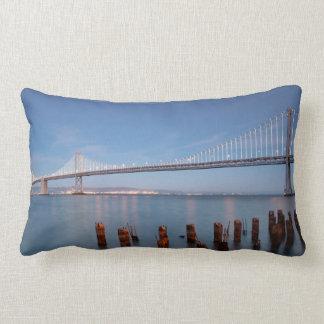 cotton pillow with bay bridge photo