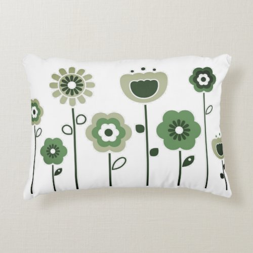 Cotton pillow with Folk flowers
