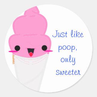 Cotton Poo Stickables Classic Round Sticker