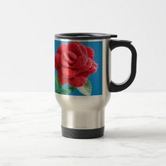 Cotton Red Rose Coffee Mug
