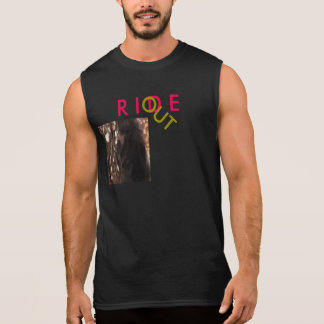 cotton sleeveless designed T-shirt RIDE OUT