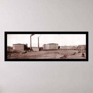 Cotton Spartanburg, SC Photo 1909 Poster