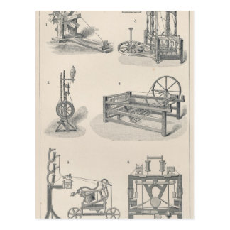 Cotton Spinning I Postcard