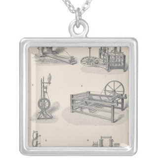 Cotton Spinning I Silver Plated Necklace