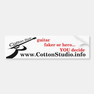cotton stuidio -black on white, v4 car bumper sticker