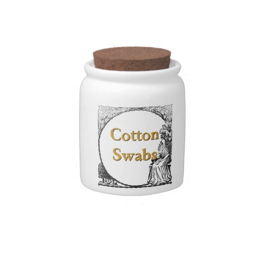 Cotton Swabs Candy Jars