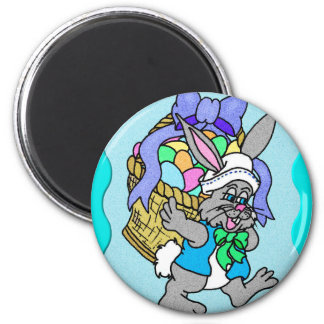 Cotton-tail Easter 5 2 Inch Round Magnet