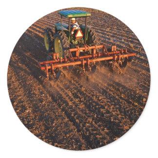 Cotton test field classic round sticker