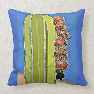 Cotton Throw Pillow - Stove Pipe Cactus in Cartoon