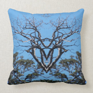 Cotton Throw Pillow Tree Heart Wings