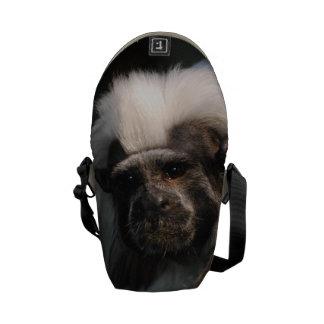 Cotton Topped Tamarin Monkey Messenger Bag