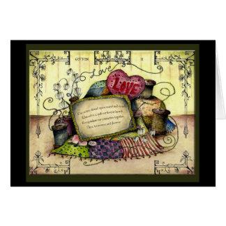 Cotton Wedding Anniversary : Jupigio-Artwork.com Greeting Card