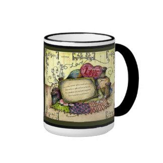 Cotton Wedding Anniversary : Jupigio-Artwork.com Ringer Coffee Mug