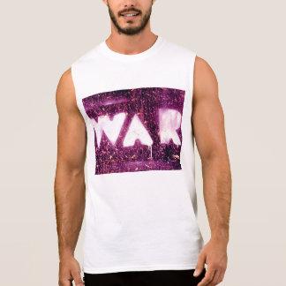Cotton White Sleeveless Shirt for Men - War Art Camiseta Sin Mangas
