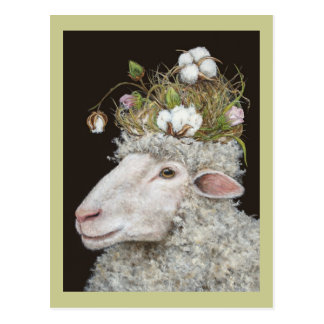 cotton wool postcard
