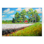 """Cottonfield in Eastern, NC Greeting Card"