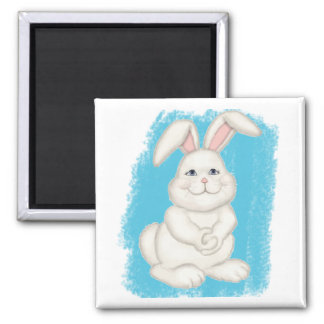 Cottontail Bunny 2 Inch Square Magnet