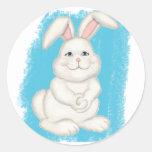 Cottontail Bunny Round Sticker