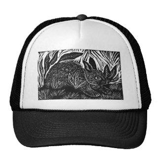Cottontail Rabbit - block print Trucker Hat