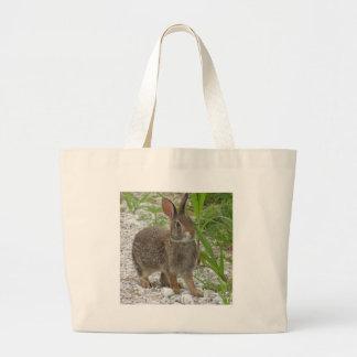 Cottontail Rabbit Large Tote Bag