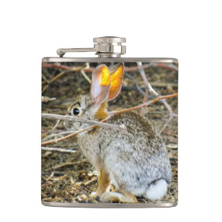 Cottontail Rabbit Vinyl Wrapped Flask