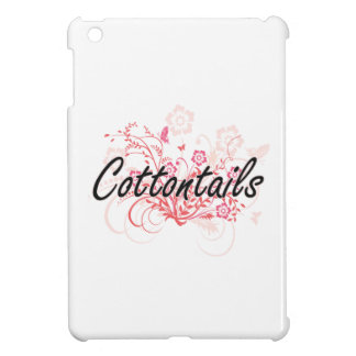 Cottontails with flowers background cover for the iPad mini