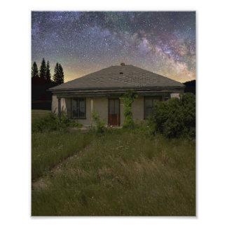 Cottonwood abandonado Dakota del Sur en la noche Fotografías