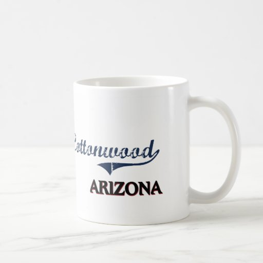 Cottonwood Arizona City Classic Classic White Coffee Mug