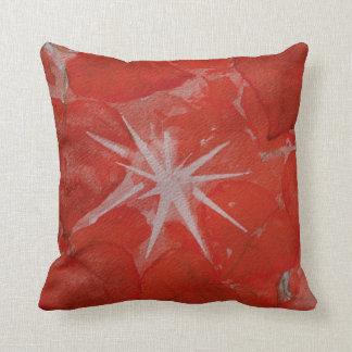 Cottonwood Candy--Crimson Throw Pillow