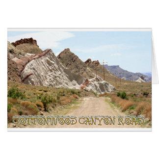 Cottonwood Canyon Road Felicitaciones