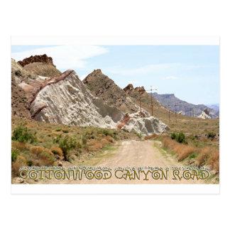 Cottonwood Canyon Road Tarjeta Postal