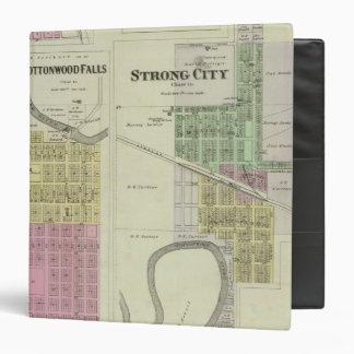 Cottonwood Falls, Strong City, Safford, Kansas 3 Ring Binder