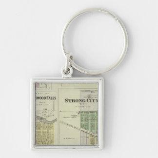 Cottonwood Falls, Strong City, Safford, Kansas Keychain