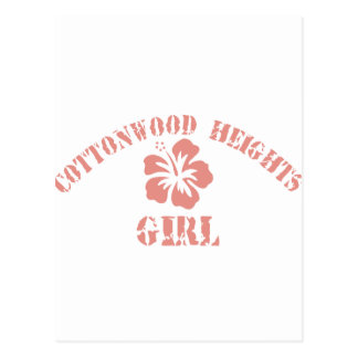 Cottonwood Heights Pink Girl Postcard