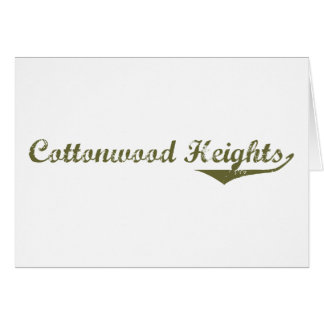 Cottonwood Heights Revolution t shirts Greeting Card