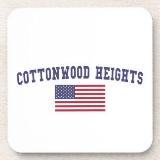 Cottonwood Heights US Flag Beverage Coaster