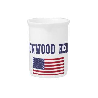 Cottonwood Heights US Flag Beverage Pitcher