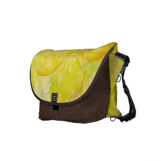 Cottonwood Leaves with Sunbeam Courier Bag