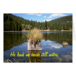 Cottonwood Meadow Lake Stationery Note Card