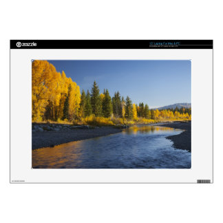 """Cottonwood trees reflected in Pacific Creek Skins For 15"""" Laptops"""