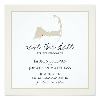 Cotuit Cape Cod Wedding Save the Date Card