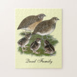 Coturnix Quail Family Jigsaw Puzzles