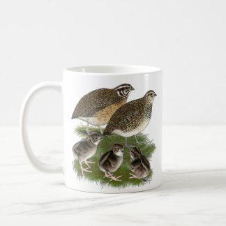 Coturnix Quail Family Classic White Coffee Mug