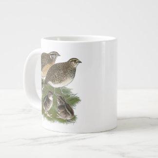 Coturnix Quail Family 20 Oz Large Ceramic Coffee Mug