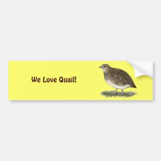 Coturnix Quail Hen Car Bumper Sticker