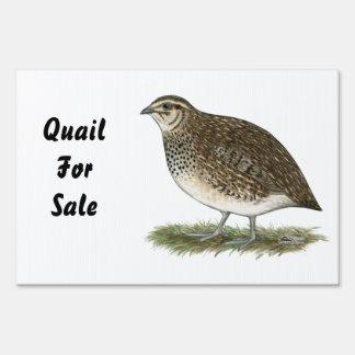 Coturnix Quail Hen Lawn Sign