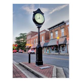 cou de la pequeña ciudad de la ciudad del rosa tarjeta postal
